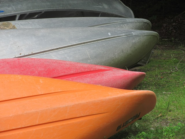 Rental canoes at a Vermont State Park
