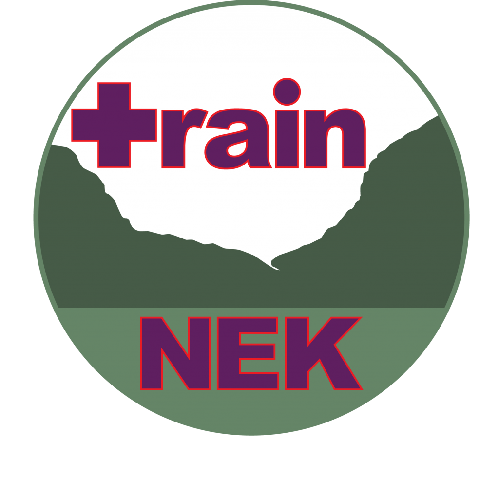 Train NEK's logo depicting an outline of Willoughby Notch