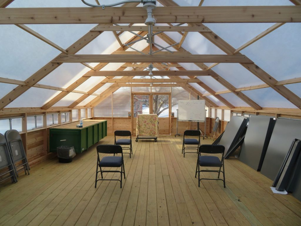 Wilderness medicine taught in a ventilated greenhouse
